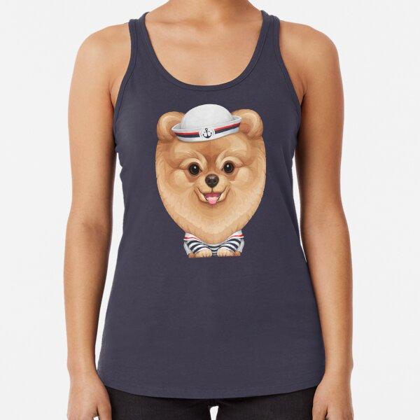 Pomeranian /'Snowball/' Ladies Racerback Tank Top