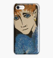Demon on a black sand beach iPhone Case/Skin