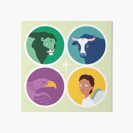 The Four Evangelists - their symbols Art Board Print