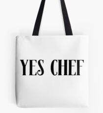 Yes Chef Sticker & T-Shirt - Gift For Chef Baker Tote Bag