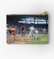 Al Schacht & Nick Altrock at MLB Opening game in Griffith Stadium in Washington D.C., 1924 Zipper Pouch