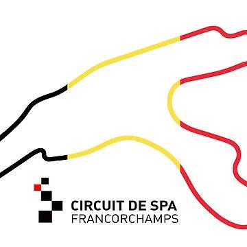 Circuit de Spa-Francorchamps - C&A RaceTracks by ColorandArt-Lab