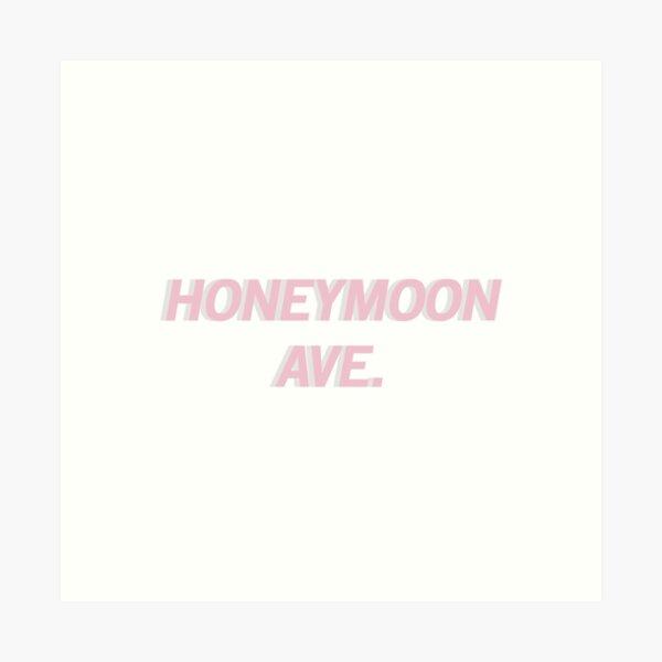 Honeymoon Avenue (Pink) Art Print