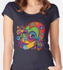 Swirly Lady Women's Fitted Scoop T-Shirt
