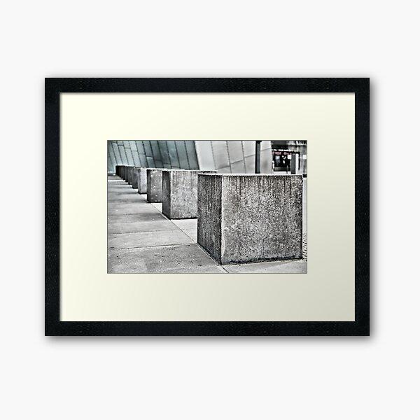 Blocks. Framed Art Print
