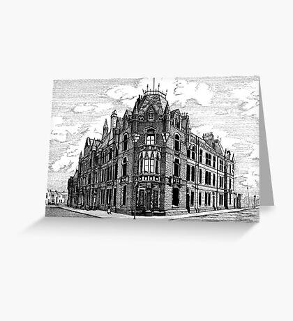 180 - BLYTH POLICE STATION - DAVE EDWARDS - INK - 1991 Greeting Card