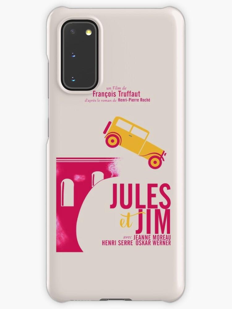 Jules et Jim, affiche de film minimaliste pour le film de François Truffaut avec Jeanne Moreau (cinéma new wave français) | Coque et skin adhésive ...