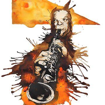 New Orleans Jazz Musician, Sidney Bechet by ryancallowayart