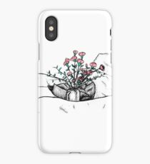 Roses in a jar on bedding iPhone Case