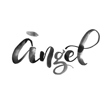 Angel - calligraphic print by ychty