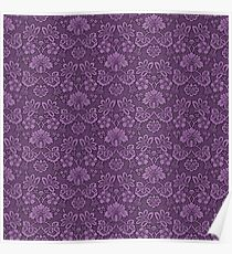 Damask Purple Poster
