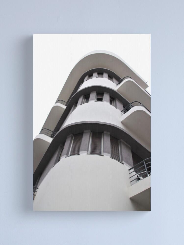 Alternate view of Tel Aviv Bauhaus style building  Canvas Print