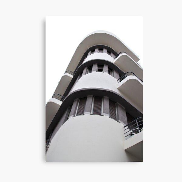 Tel Aviv Bauhaus style building  Canvas Print