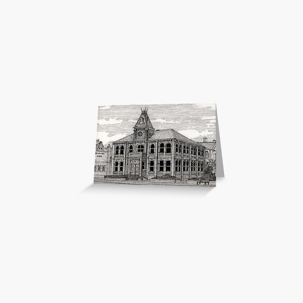 168 - BLYTH LIBRARY - 2nd VERSION - DAVE EDWARDS - INK - 1990 Greeting Card