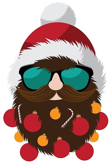 d786424758a Hipster Santa Claus with decorated beard