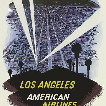 Vintage Travel Poster Los Angeles by G-Design