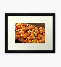 Rice cracker savory chili balls Framed Print