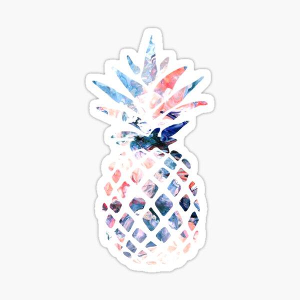 Pineapple Watercolor Swirl Sticker