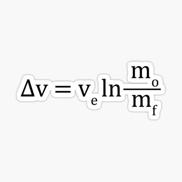 Tsiolkovsky rocket equation Sticker