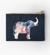 Watercolor Elephant Swirl Zipper Pouch