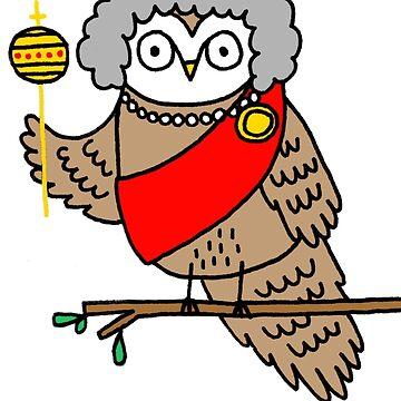 Queen Owl-izabeth by mickeyrose