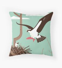 At the Osprey Nest Throw Pillow