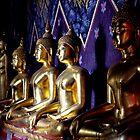 Golden Buddhas by Dave Lloyd