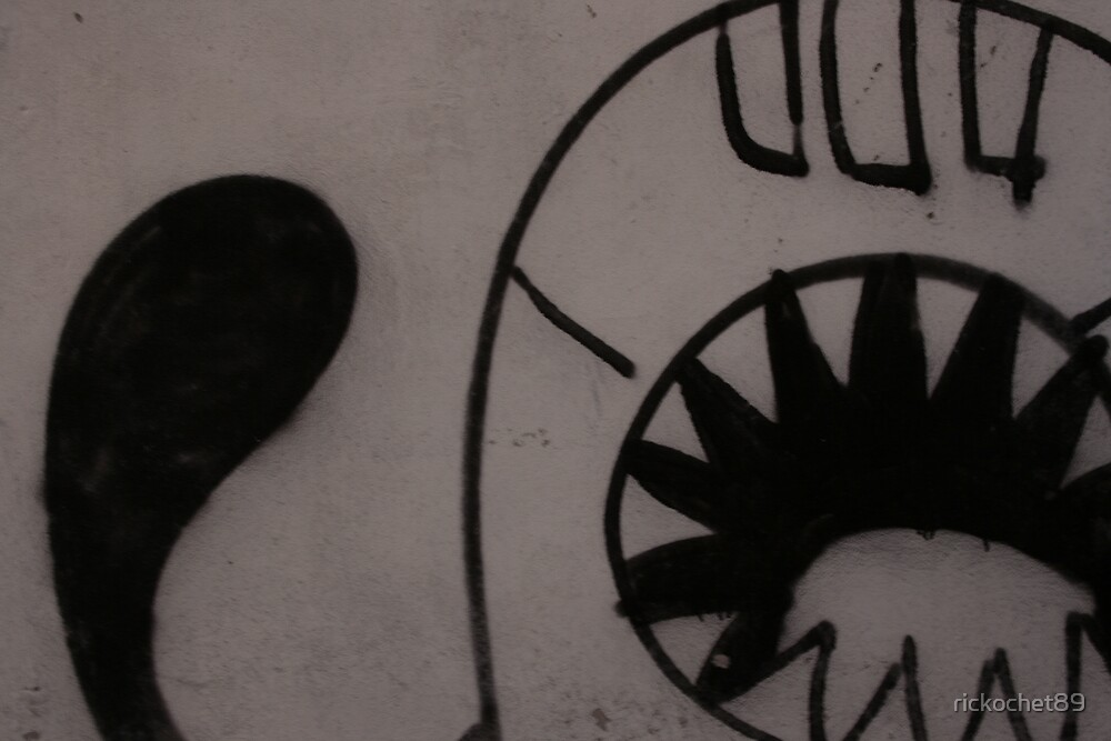 monster graffiti by rickochet89