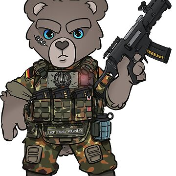 TACTICAL TEDDY - KSK - FACIT OMNIA VOLUNTAS by TacOpsGear