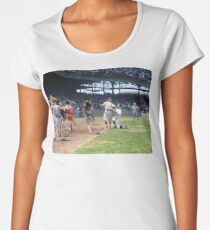 Al Schacht & Nick Altrock at MLB Opening game in Griffith Stadium in Washington D.C., 1924 Women's Premium T-Shirt