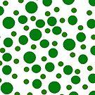 Green polka dots pattern by HEVIFineart