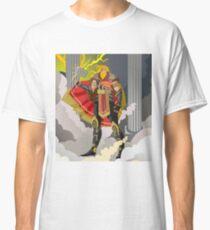 scandinavian norse mythology thor strong god of thunder with hammer Classic T-Shirt