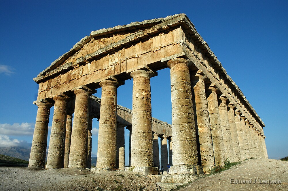 TEMPLE at SEGESTA, SICILY by Edward J. Laquale