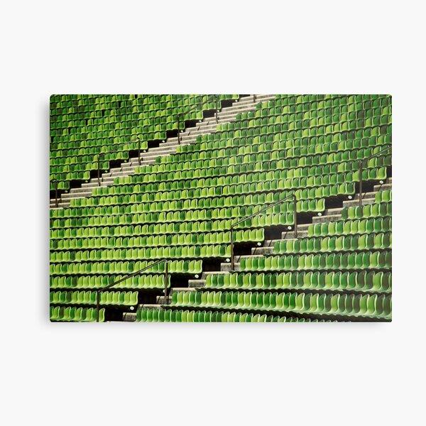 the green chair Metal Print