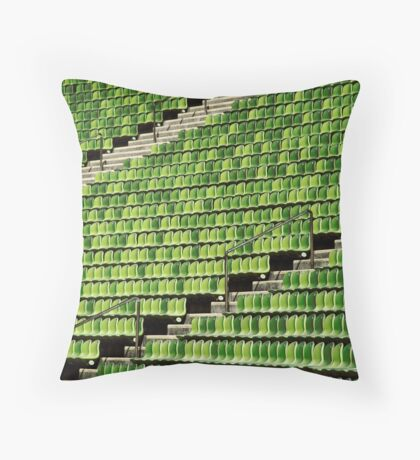 the green chair Throw Pillow