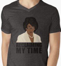 Camiseta de cuello en V Maxine Reclaiming My Time T-shirt Funny Political Tee Quote