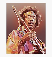 Jimi Hendrix Guitar God Photographic Print