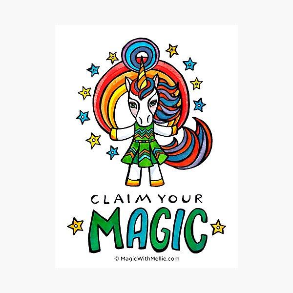 Claim Your Magic - Unicorn - Animals of Inspiration series Photographic Print