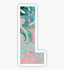 Paint letter L sticker Sticker