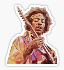 Jimi Hendrix Guitar God Sticker