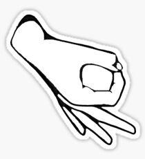 Circle Finger Punching Game Sticker