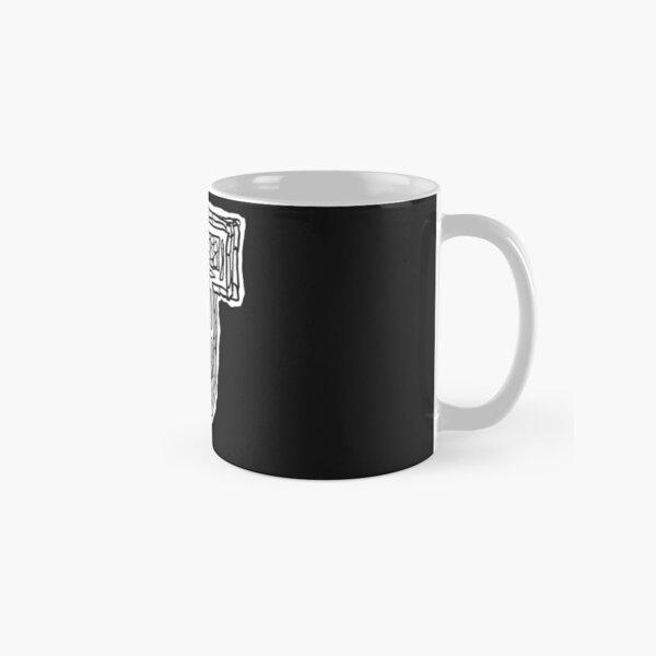 Upper case black and white alphabet Letter J Classic Mug