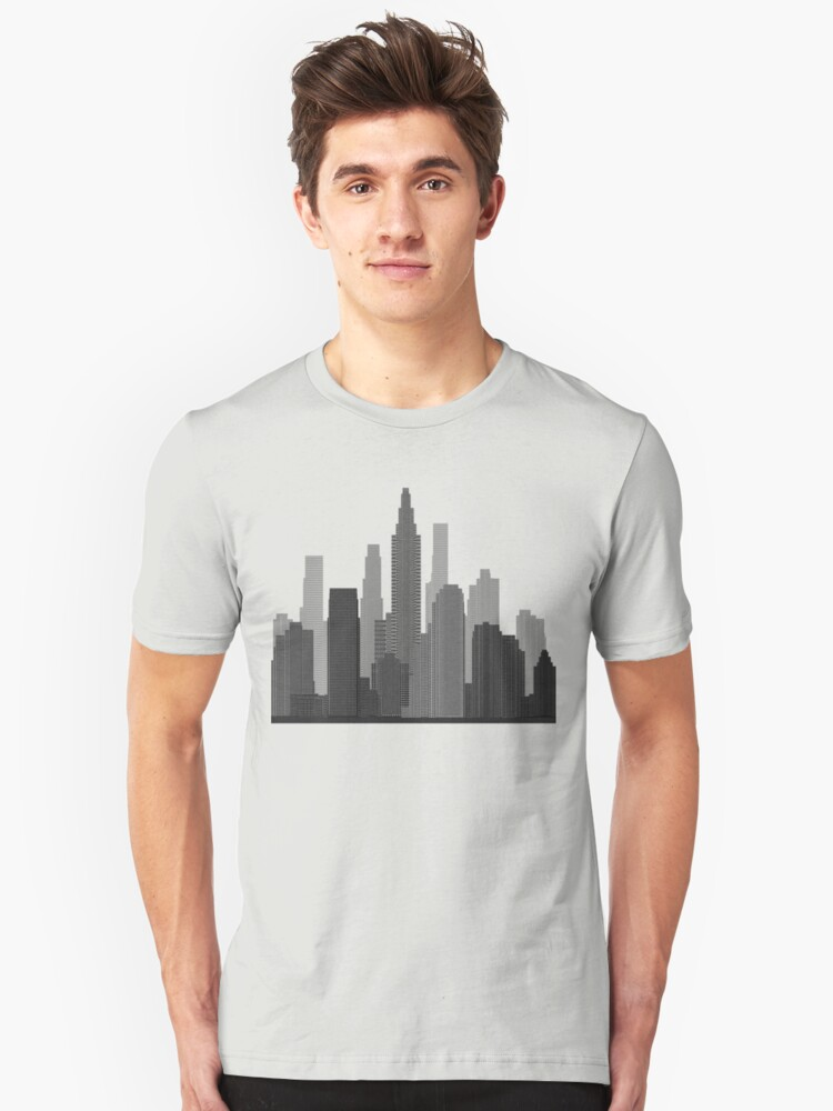 Downtown Grey Unisex T-Shirt Front