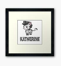 Zebra Katherine Framed Print