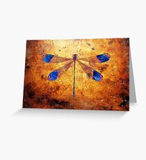 Dragonfly in Amber Greeting Card