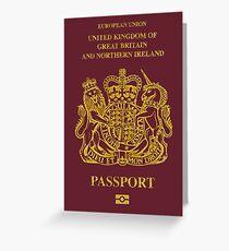 NDVH EU UK Passport Greeting Card