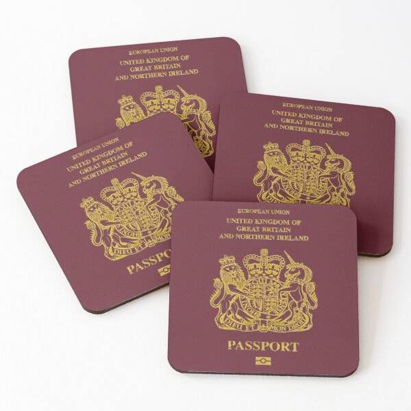 NDVH EU UK Passport Coasters (Set of 4)
