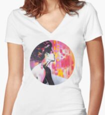 Neon Geisha Women's Fitted V-Neck T-Shirt
