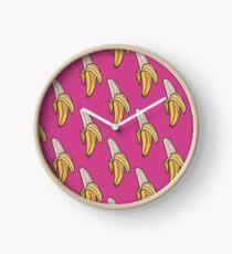 Pink U - Banana (Open) Clock