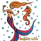 Bubble with Joy - Mermaid Mantras series by mellierosetest